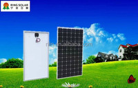 High efficiency low solar panel price Chinese Zhejiang Ningbo Ring Electronics Co.,Ltd18V 245W mono flexible solar panel