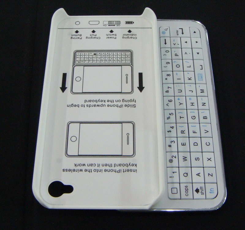 Ultra thin slide-out wireless bluetooth keyboard for iphone 5
