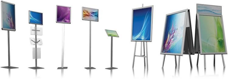New Products On China Market Economic Aluminum Frame Poster Stand