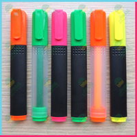 Hot-sale plastic box packaged highlighter Rectangular Highlighter With Frosted Barrel JX-5009