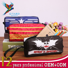 Popular heat printed Color Custom logo Cool Stationery pen case