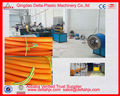 Corrugated electric wire protection hose making machine