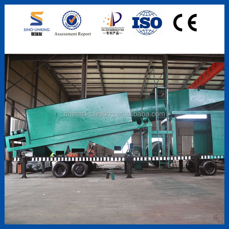 Gold Mine Project Use Mobile Extraction Wash Trommel from Sinolinking