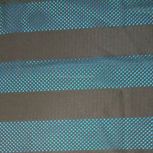 stripe type warp knitted polyester mesh fabric for clothing
