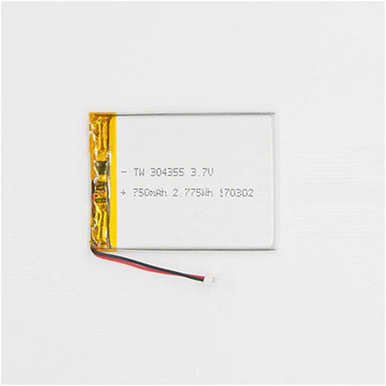 7.4V 750Mah 304355 Polymer Rechargeable Lithium Ion Battery Pack