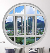 modern design UPVC round window with waterproof and insulation function