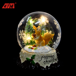 2018 wedding favors glass crafts artificial snow globe with battery for sale