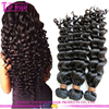Double drawn 100% virgin real brazilian hair weft cheap deep wave human hair weft