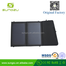 mobile power 10w Dual USB folding solar panel charger bag waterproof portable solar charger solar power bank