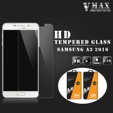 High quality new 2.5D 9H anti broken cell phone tempered glass screen protector for Samsung Galaxy A3