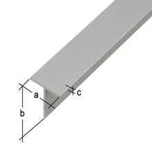 silver color extruded aluminum T profiles t angle