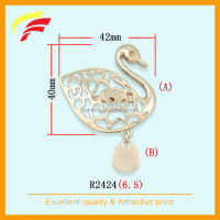 zinc alloy swan shape brooch , bow shape brooch for women