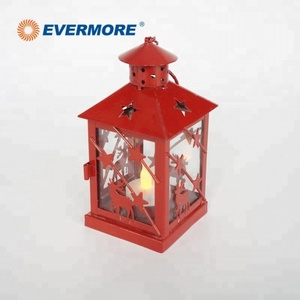 Evermore Mini Cheap Antique Metal Christmas Lantern Light Candle Holder