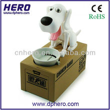 Robotic Hungry Doggy Piggy Bank Dog Eating Coin Coin Box