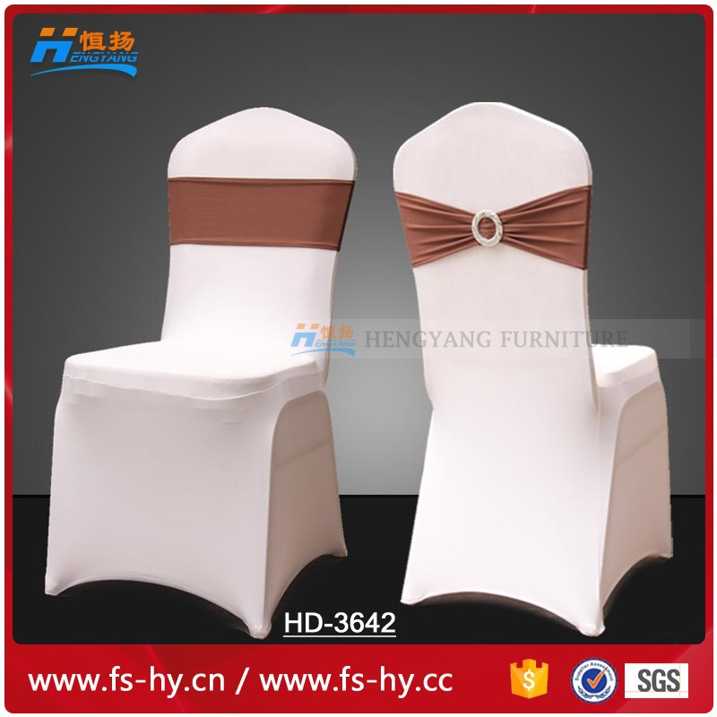 HD-3642 wholesale durable cheap christmas wedding banquet spandex chair covers