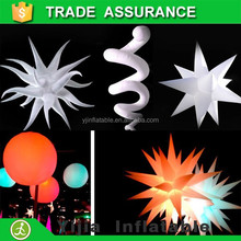oxford material with led light changing colors white outdoor wedding decoration