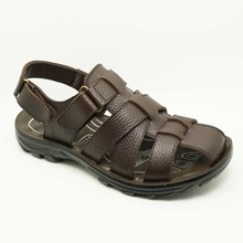dark brown comfortable genuine leather gladiator sandals shoes for men