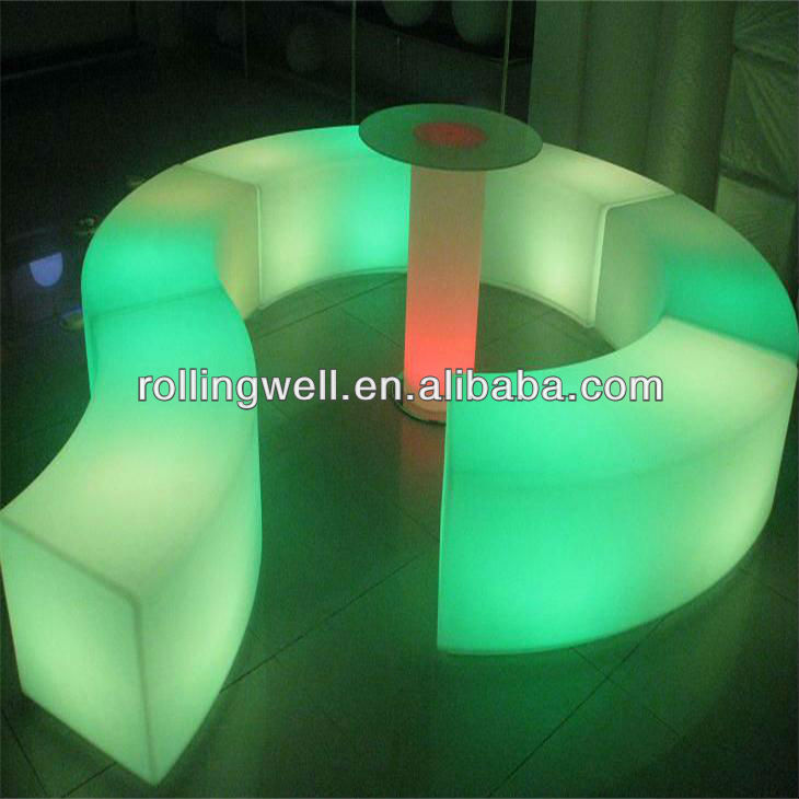 Wholesale modern Solar powered lighting plastic LED bench decoration for living room