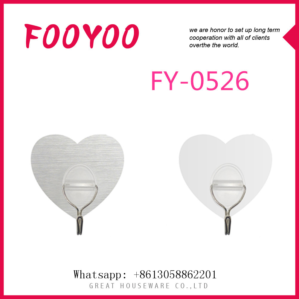 FOOYOO FY-0526 HEART SHAPED MAGIC PAPER HANGER CONCRETE WALL HOOKS