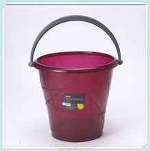 13L plastic transparent water bucket with handle