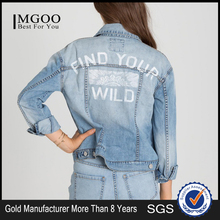 Manufacturer price wholesale classic denim jacket women custom bomber jacket