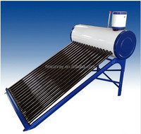 Family Using Unpressurized compact solar water heater