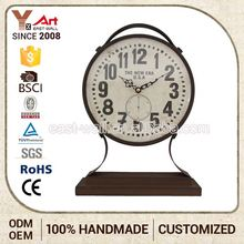 Direct Factory Price Unique Design Custom Fit Decorative Table Clock Promotional