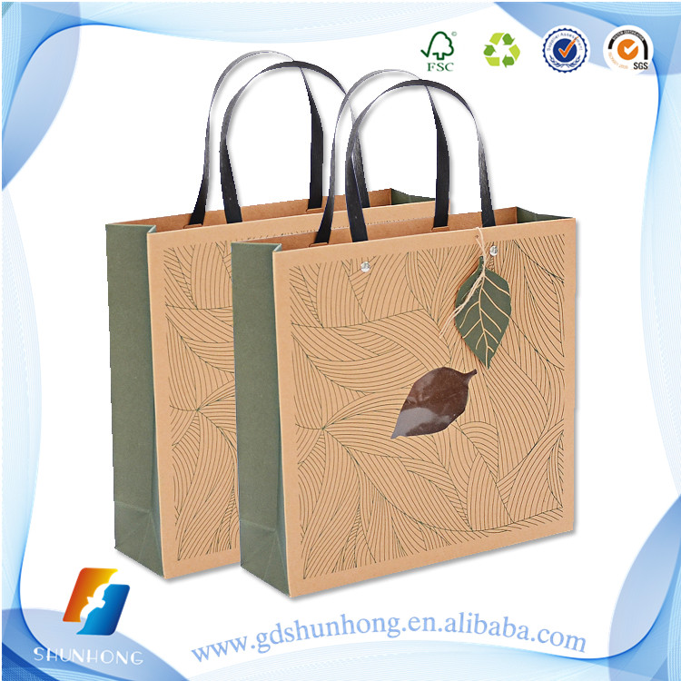 many kinds of kraft paper bag multifunctional lunch bag with handles