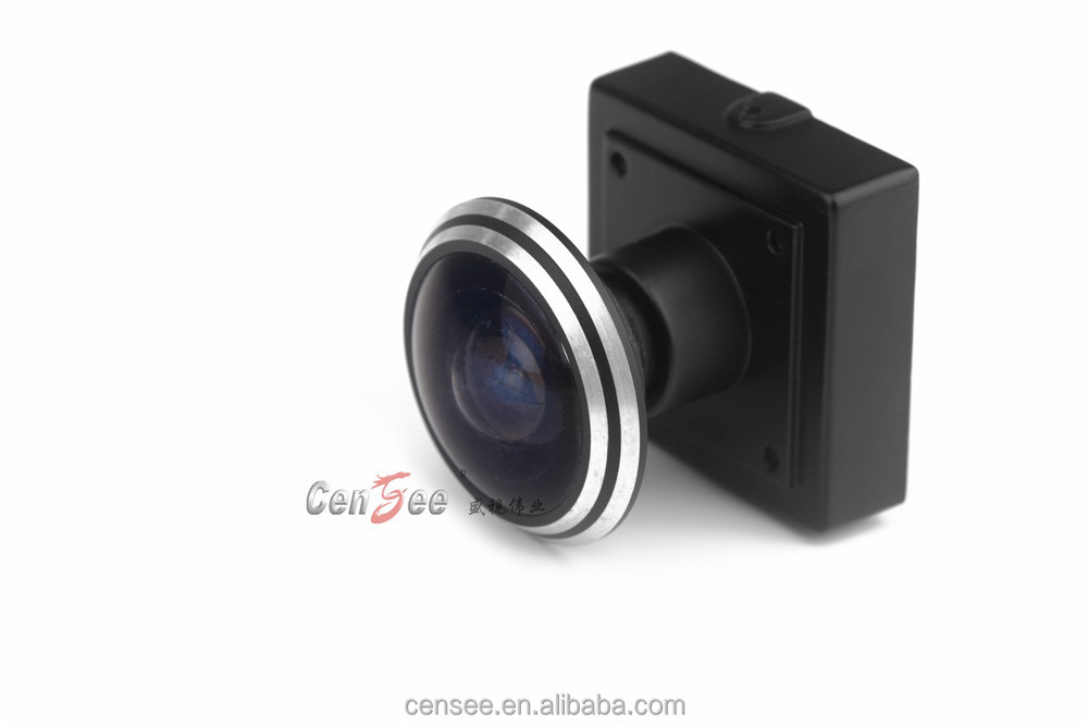 Small Size 25x25mm 1.78mm Fisheye Lens More Than 120 Degree View Angle CCTV Camera