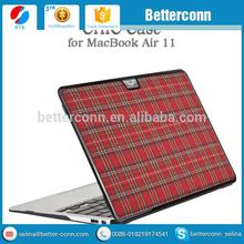 Lattice pattern High Quality leather hard Case For Macbook air pro