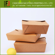 customized disposable kraft paper electric fast food container