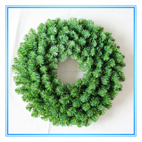 60cm green pvc artificial christmas wreath