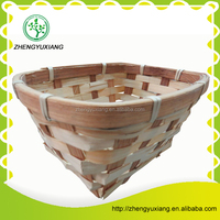 Rectangle color bamboo storage basket