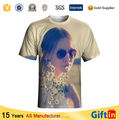Ladies New products 2015 100% polyester wholesale blank OEM factory custom print t-shirt