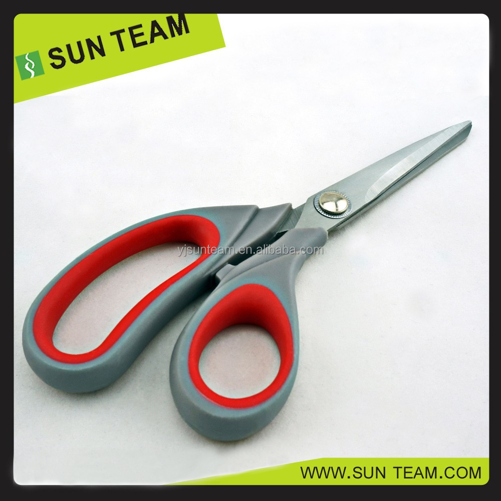 High quality stainless steel rubber handle taping scissors