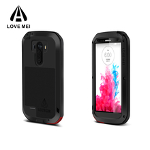 2017 new 100% high quality Love Mei unbreakable waterproof blank leather bulk cell phone case for LG G3