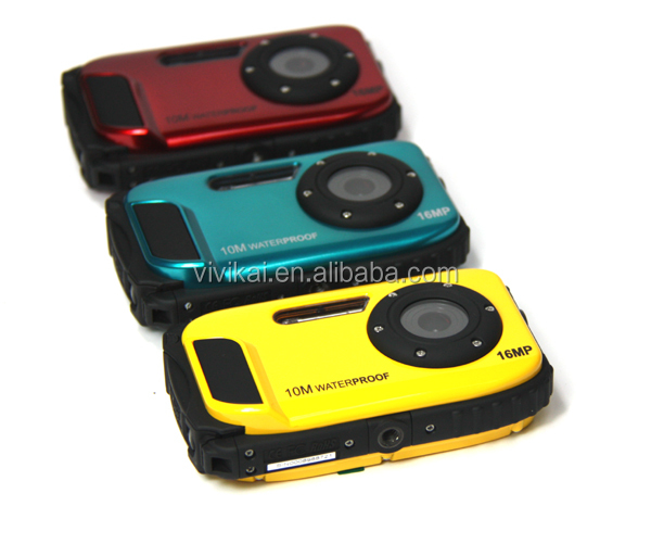 Cheap Waterproof Digital Camera with 2.7 LCD 8X Digital Zoom(DC-188)