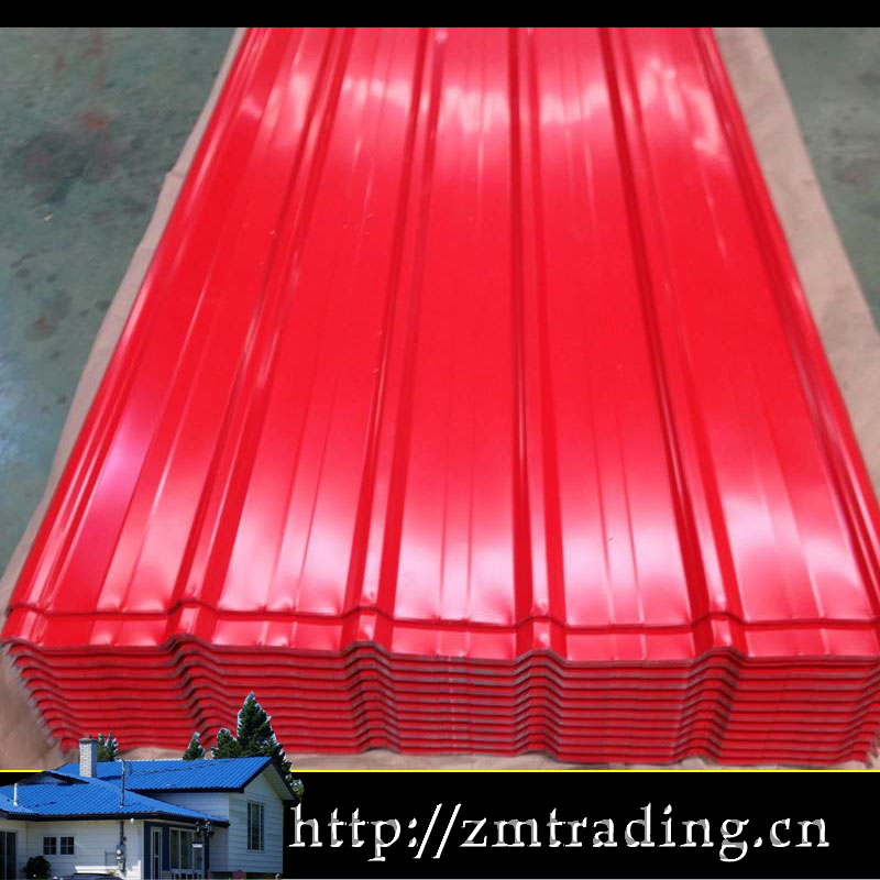 colorful high quality zinc used metal roofing sale