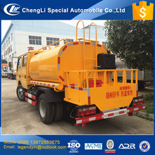 CLW 2017 cheap price diesel engine double cab 4x2 6 wheels small 3000liters asphalt bitumen transport tanker truck for hot sale