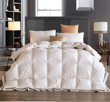 Luxury Filling White Goose Down Quilt Comforter Winter Warm soft pure 100% Cotton Duvet cover Single Twin Queen King size