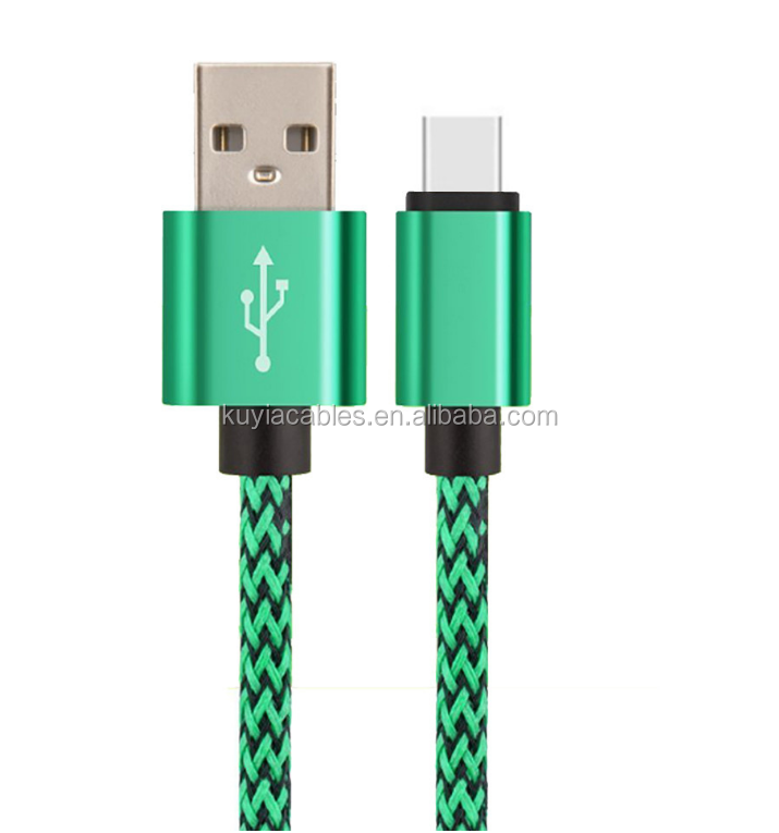 Charger type c USB 3.1 Braided Fast Charging Data Sync Quick Charger Cable