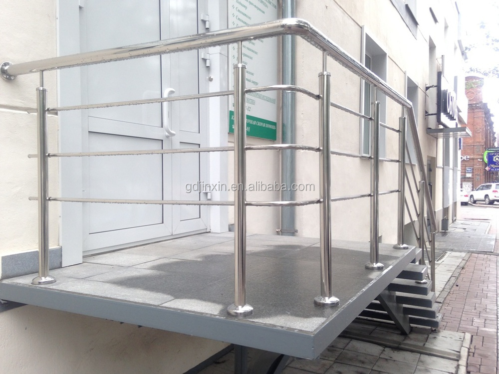 Stainless steel outdoor railing design balcony fence with for Balcony steel railing designs pictures