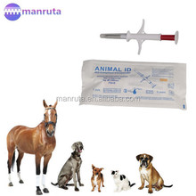 Hot Free shipping 100 pcs /lot ISO 11784/5 FDX-B 1.4X8mm Injectable RFID Animal Microchip mini RFID chip for dog and cat pets