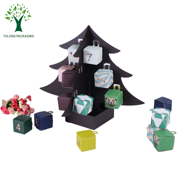 Kids Surprise Toy Christmas Tree Design Candy Gift Box