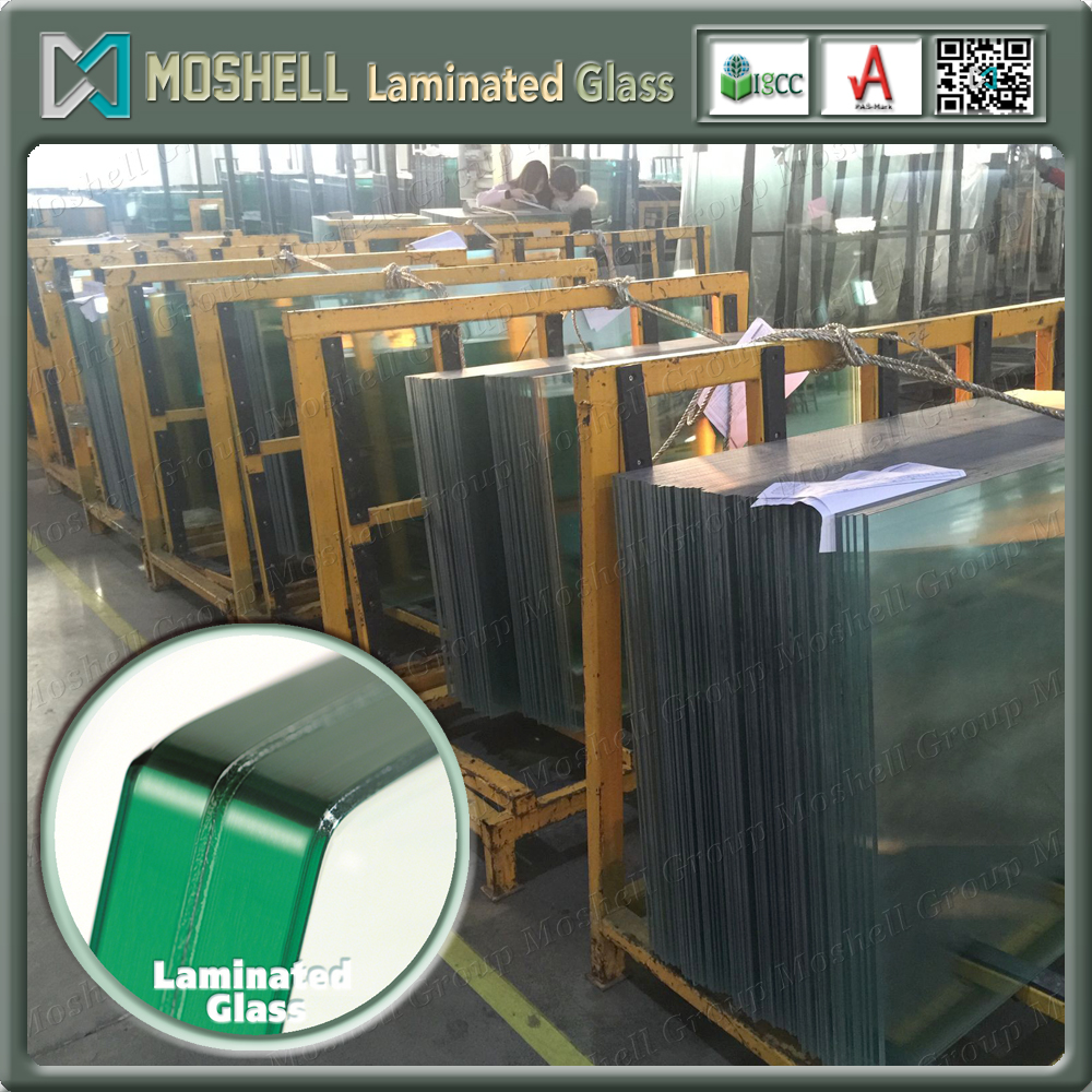 Float/tempered laminated glass price per square metre for building with factory price
