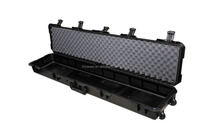strong plastic waterproof shockproof military gun case with customized foam