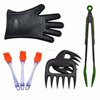 2017 HOT Outdoor Barbecue Tools Set Silicone BBQ /Cooking Gloves Meat Shredder Silicone Basting Brush