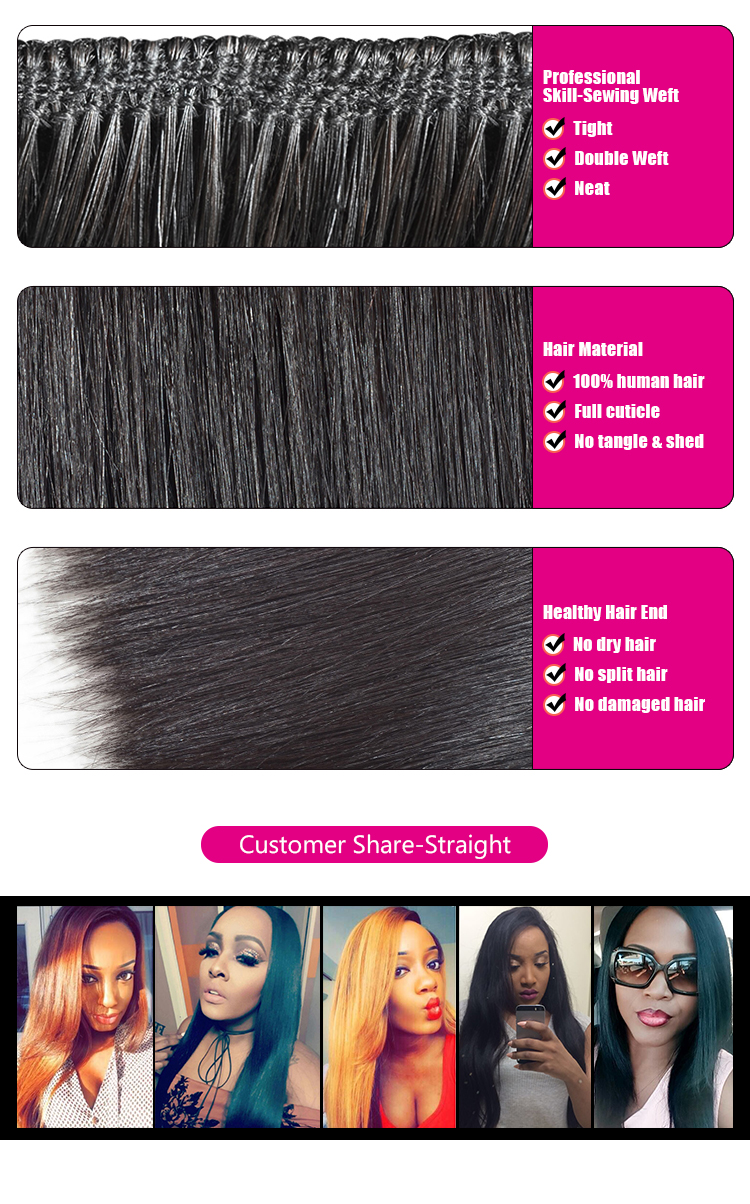 Factory direct sale straight hair cheap brazilian hair in dubai