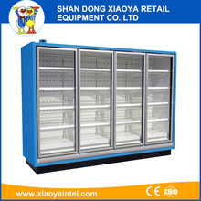 glass door food drinks fridge display cabinet used in supermarket