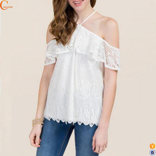 Latest neck designer fancy western woman tops for girls